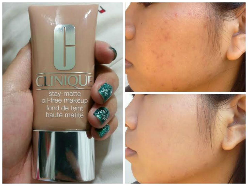 fee9d2d9aee Clinique Stay Matte foundation in Beige swatches  Shimmerypastels@blogspot.com