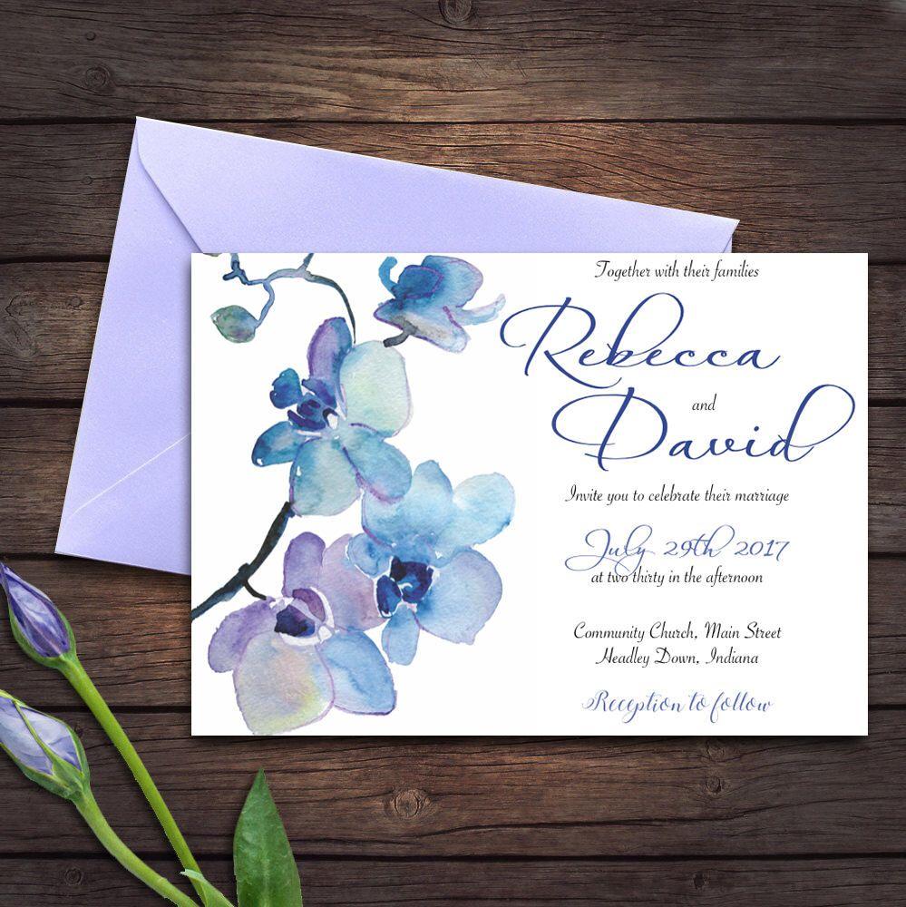 Wedding invitation   Orchid set   Invitation, Details Card, RSVP ...
