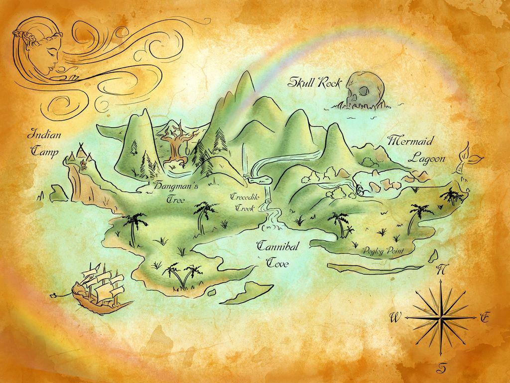 Neverland Map By Mercedesjk Deviantart Com On Deviantart Mons