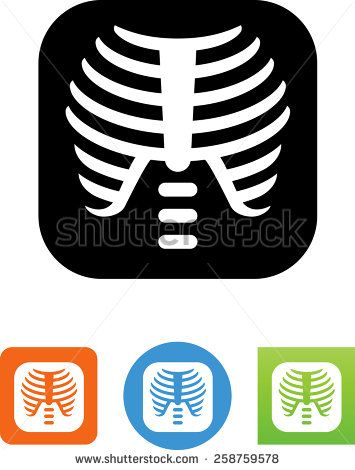 Stock Vector X Ray Of A Human Rib Cage Symbol For Download Vector Icons For Video Mobile Apps Web Sites And 258759578 Hospital Icon Human Rib Cage Fitness Icon
