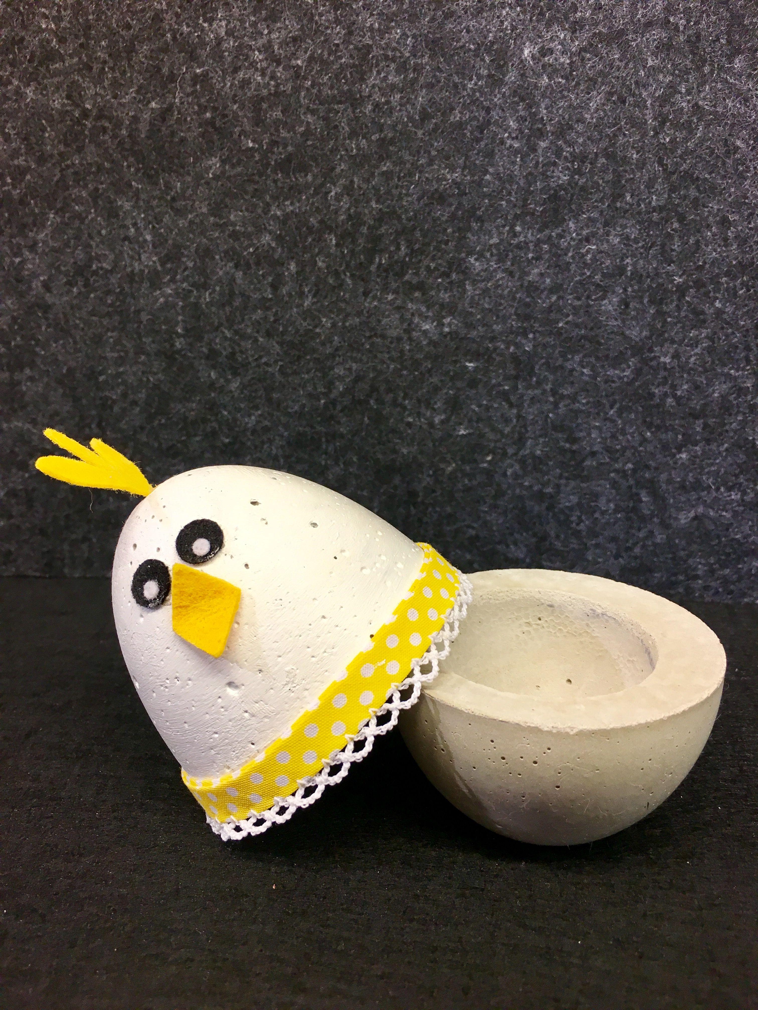 Eierbecher Beton betonhuhn als eierbecher diy eierbecher beton huhn ei diy