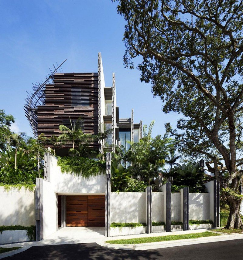 Ground floor · modern tropical residence the nest house by woha architects
