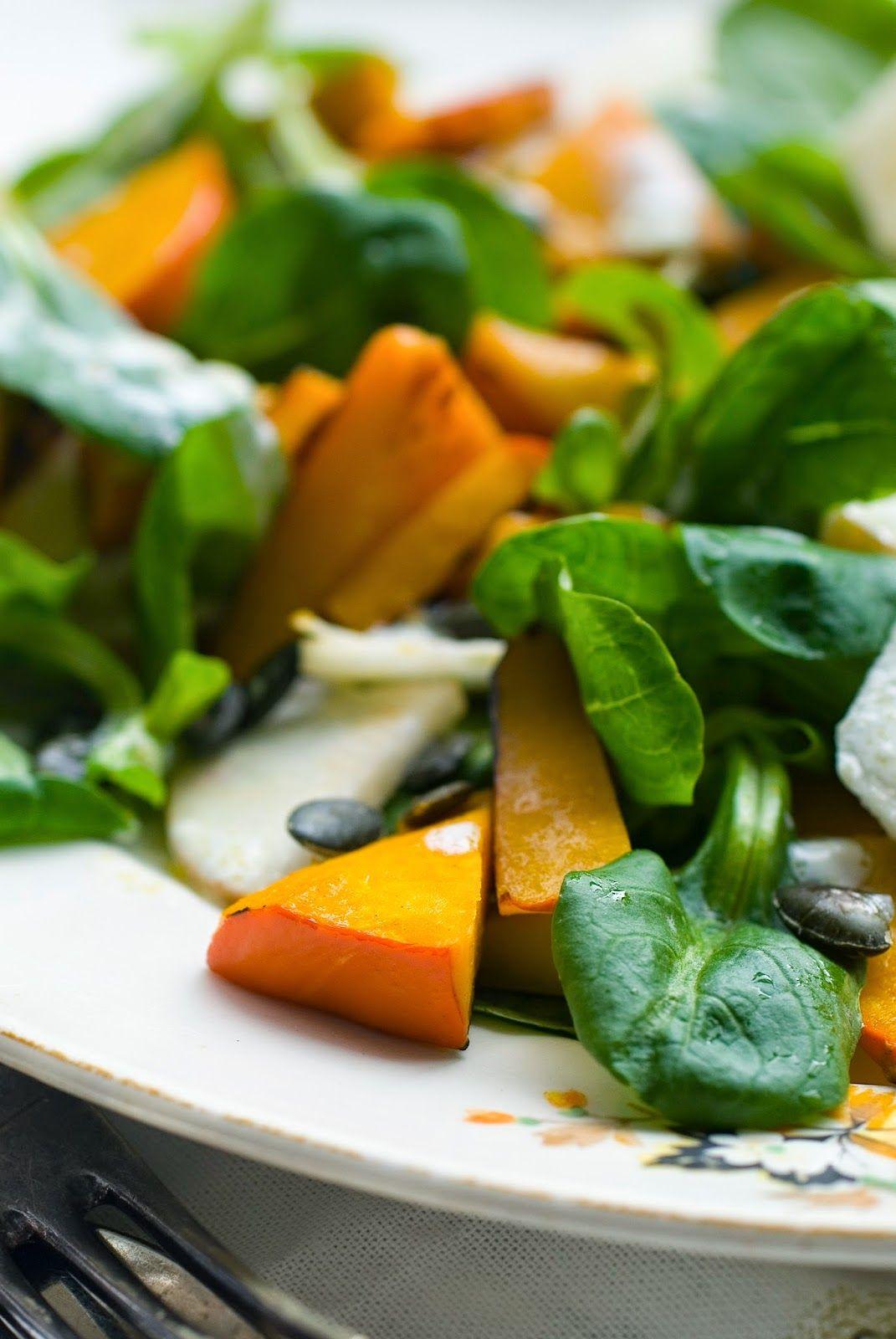salat with pumpkin