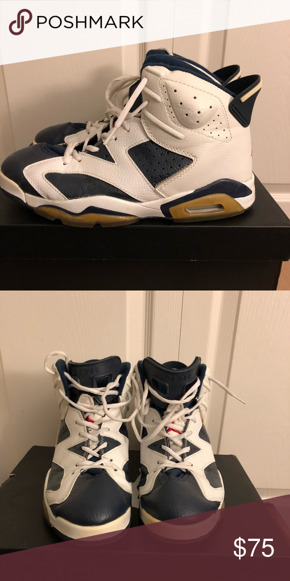 "88f7fde4a03ab5 2000 Air Jordan 6 ""Olympic"" Very iconic pair of authentic Air Jordan ..."