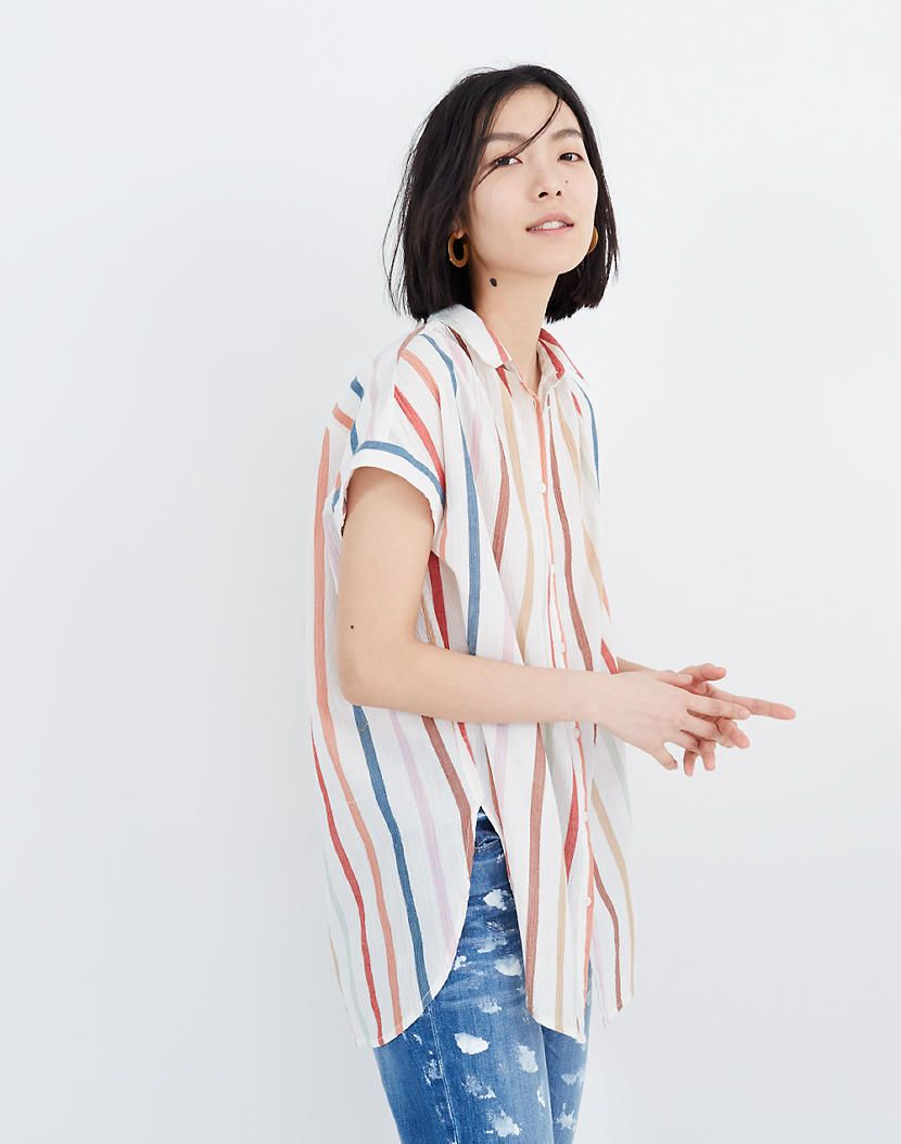 5739f3e7f3a Gauze Central Tunic Shirt in Rainbow Stripe in 2019 | ND SUMMER ...