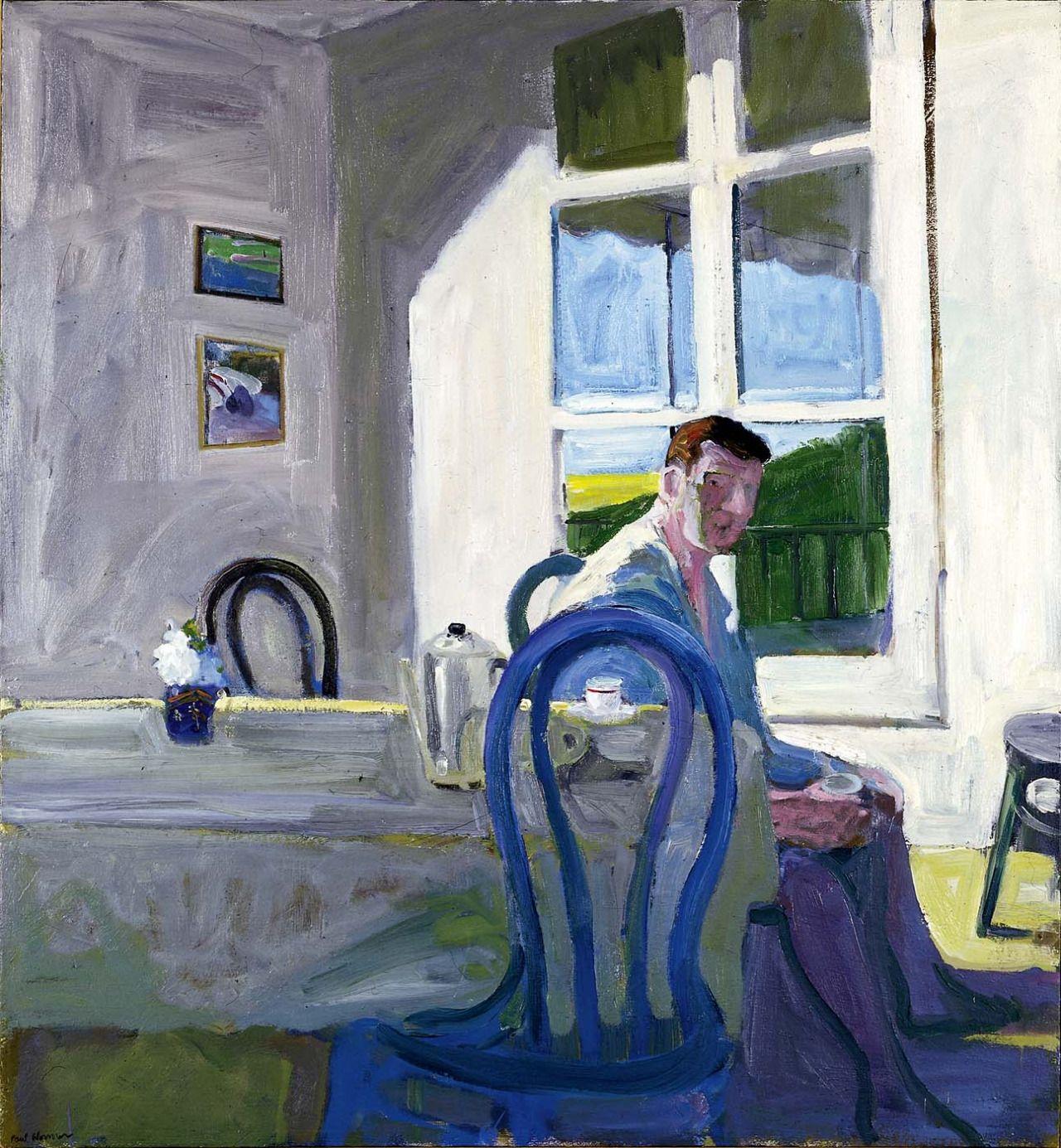 Paul Wonner, Model Drinking Coffee, 1964, oil on canvas, 49 ½ x 45 7/8 in.