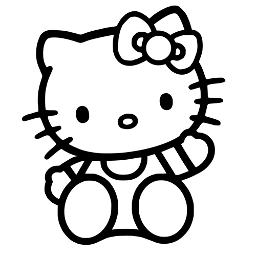 Hello Kitty Laptop Car Truck Vinyl Decal Window Sticker PV - Hello kitty custom vinyl decals for car