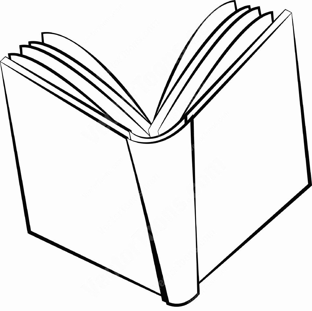Open Book Coloring Pages Unique Open Clipart Drawing For Free And Use Images In Open Book Drawing Coloring Books Book Drawing