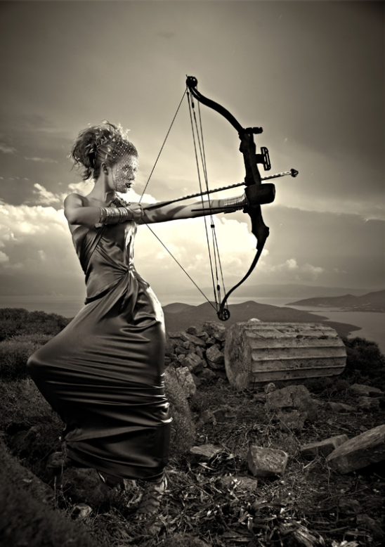 Archery by Nigel Barker (ANTM). I loved this shoot it was SO cool!! Laura (pictured) was my favorite! I wanted her to win the All-Stars cycle!