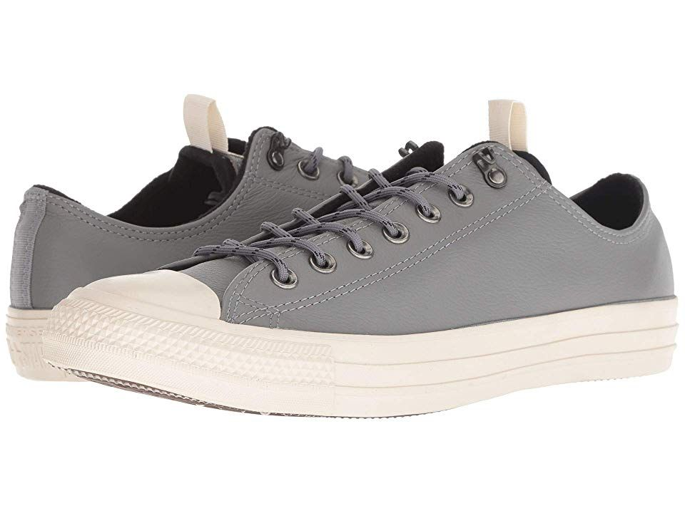 44de7c652f53aa Converse Chuck Taylor All Star Leather - Ox (Mason Black Driftwood) Lace up  casual Shoes. Give stylish accents to a style icon with the Converse Chuck  ...