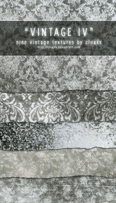 Vintage IV Texture Pack by `cloaks on deviantART