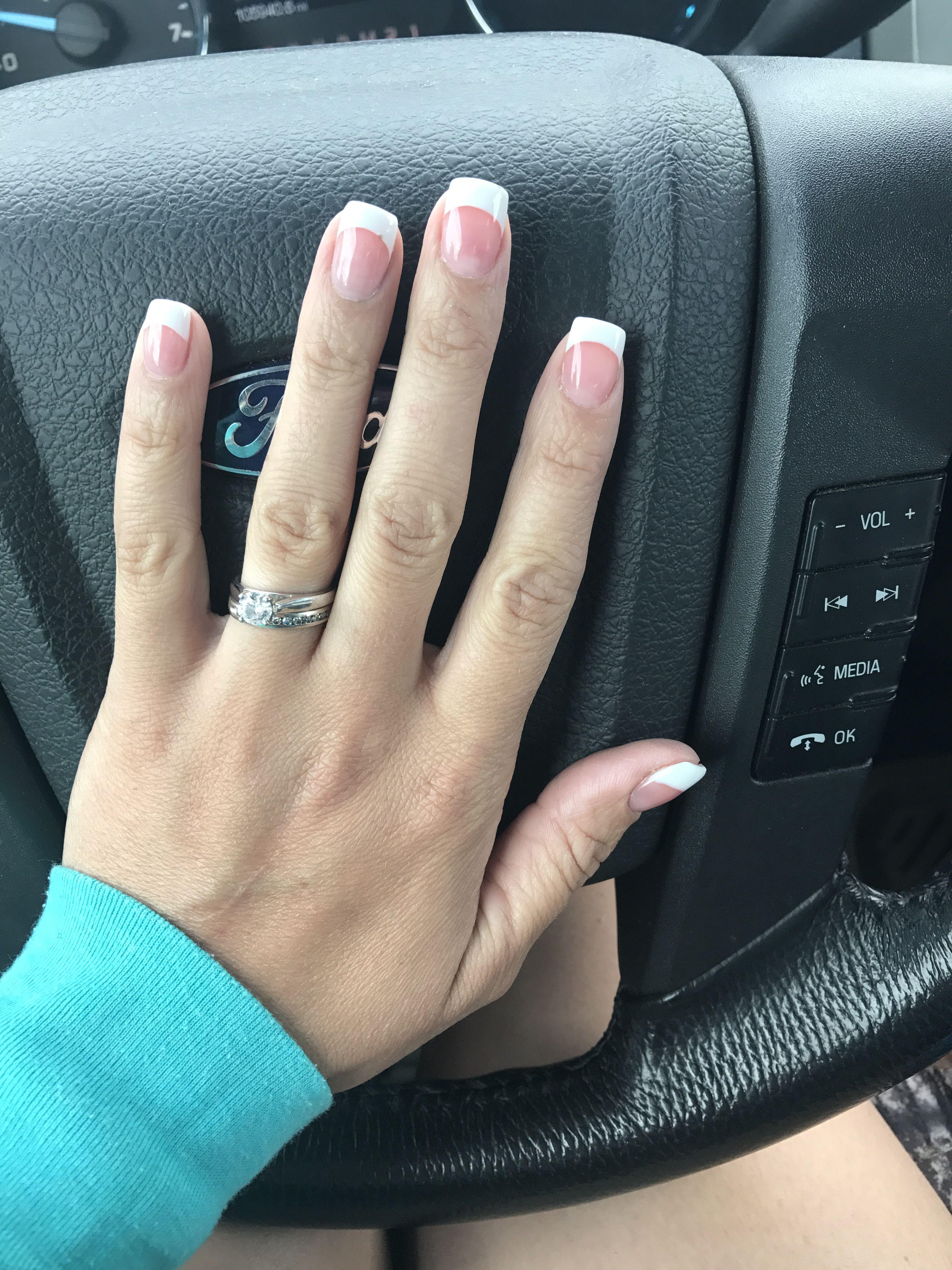 Pink And White Gelish Polygel Polygel Nails Hair And Nails Gelish Polygel