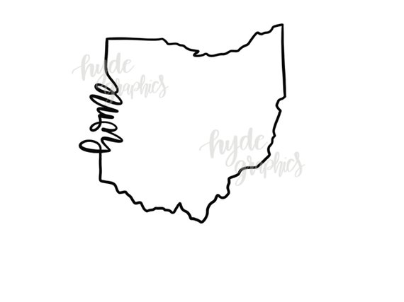 ohio home outline svg file ohio outline svg design ohio svg