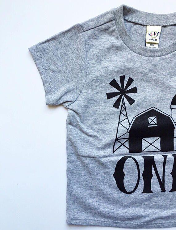 Farm First Birthday Shirt Modern Farm Birthday Outfit