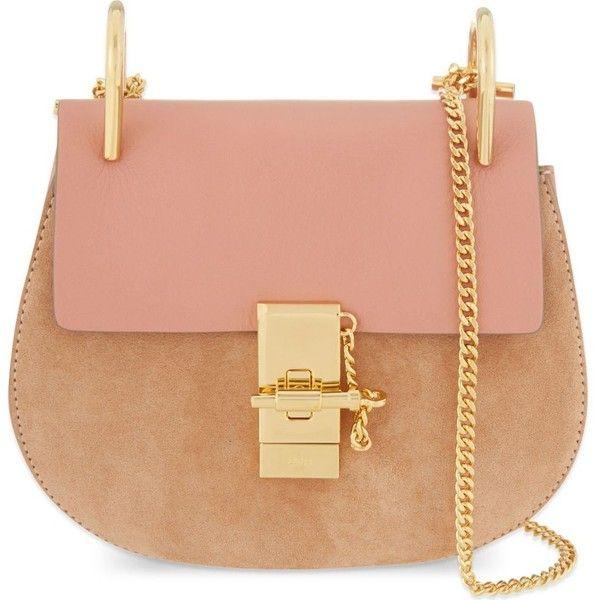 a4e685df CHLOE Drew mini suede & calf leather cross-body bag ($1,600 ...
