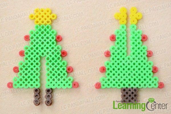 How To Make 3d Hama Bead Christmas Tree Designs Hama Beads Christmas Hama Beads Design Christmas Perler Beads