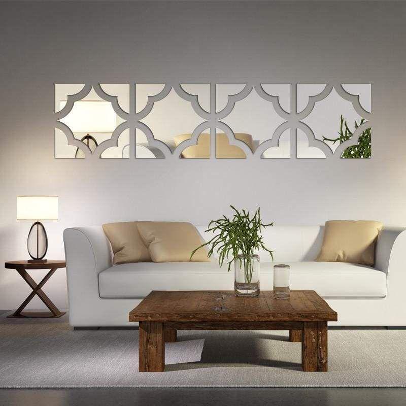 Geometric Mirrored Acrylic Wall Sticker Decor European Home Decor Wall Stickers Home Decor Home Decor