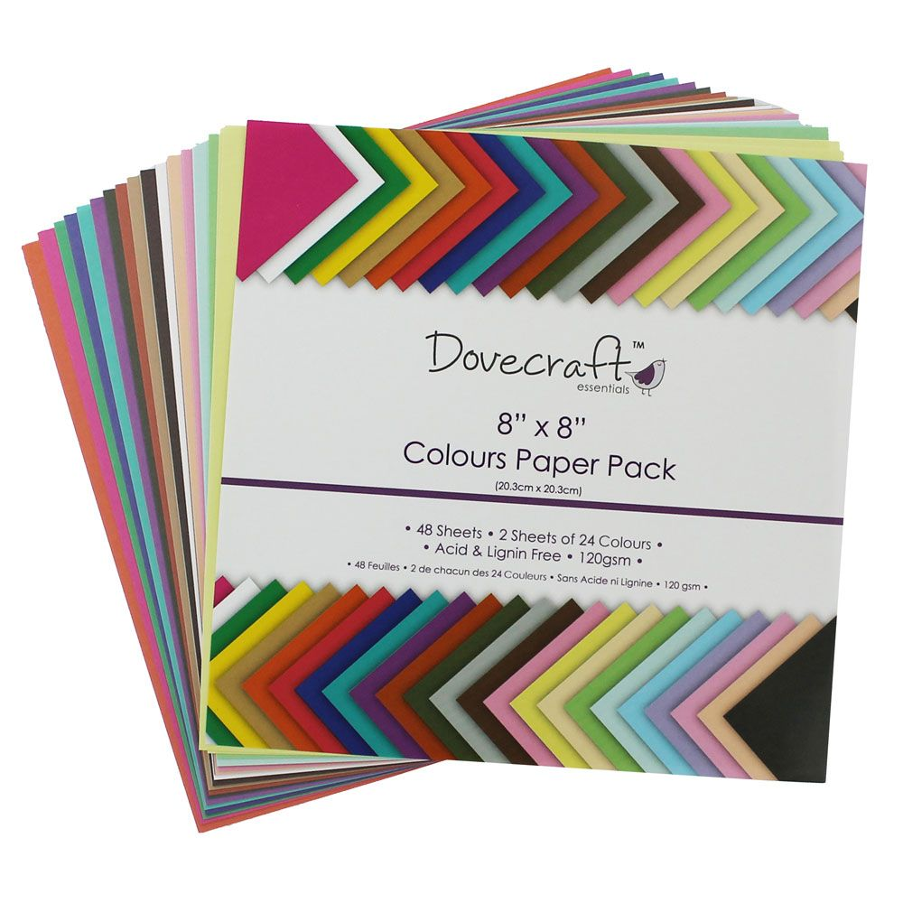 Colour Block Paper Pack 8 X 8 Inches Craft Work Items Card