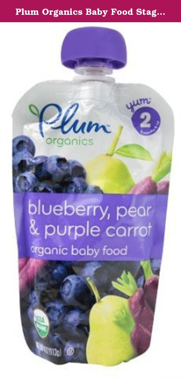 Plum organics baby food stage 2 blueberry pear and purple