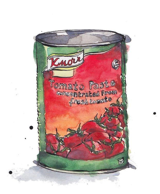 Tomato Tin n.2 Art Print A4 from Original Ink and от PebbleandBee
