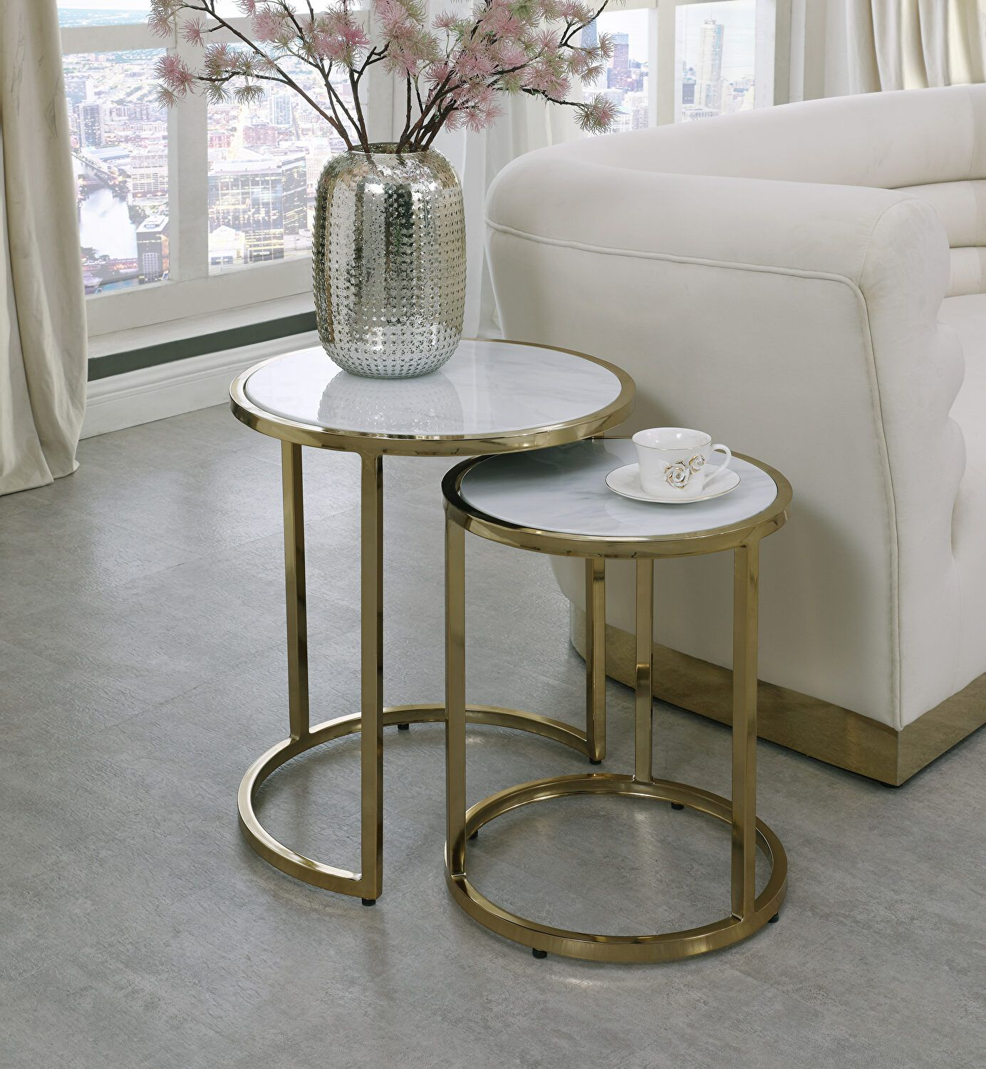 Massimo Et End Table 207 Meridian Furniture End Accent Tables In 2021 Nesting Tables Table Decor Living Room End Tables [ 1500 x 1384 Pixel ]