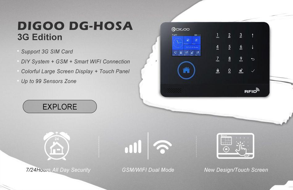 Digoo DG-HOSA 433MHz Window Door Sensor PIR Detector Wireless Remote