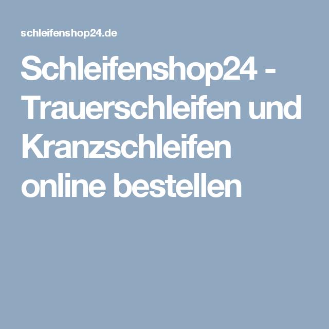 Schleifenshop47 - Trauerschleifen und Kranzschleifen online ...