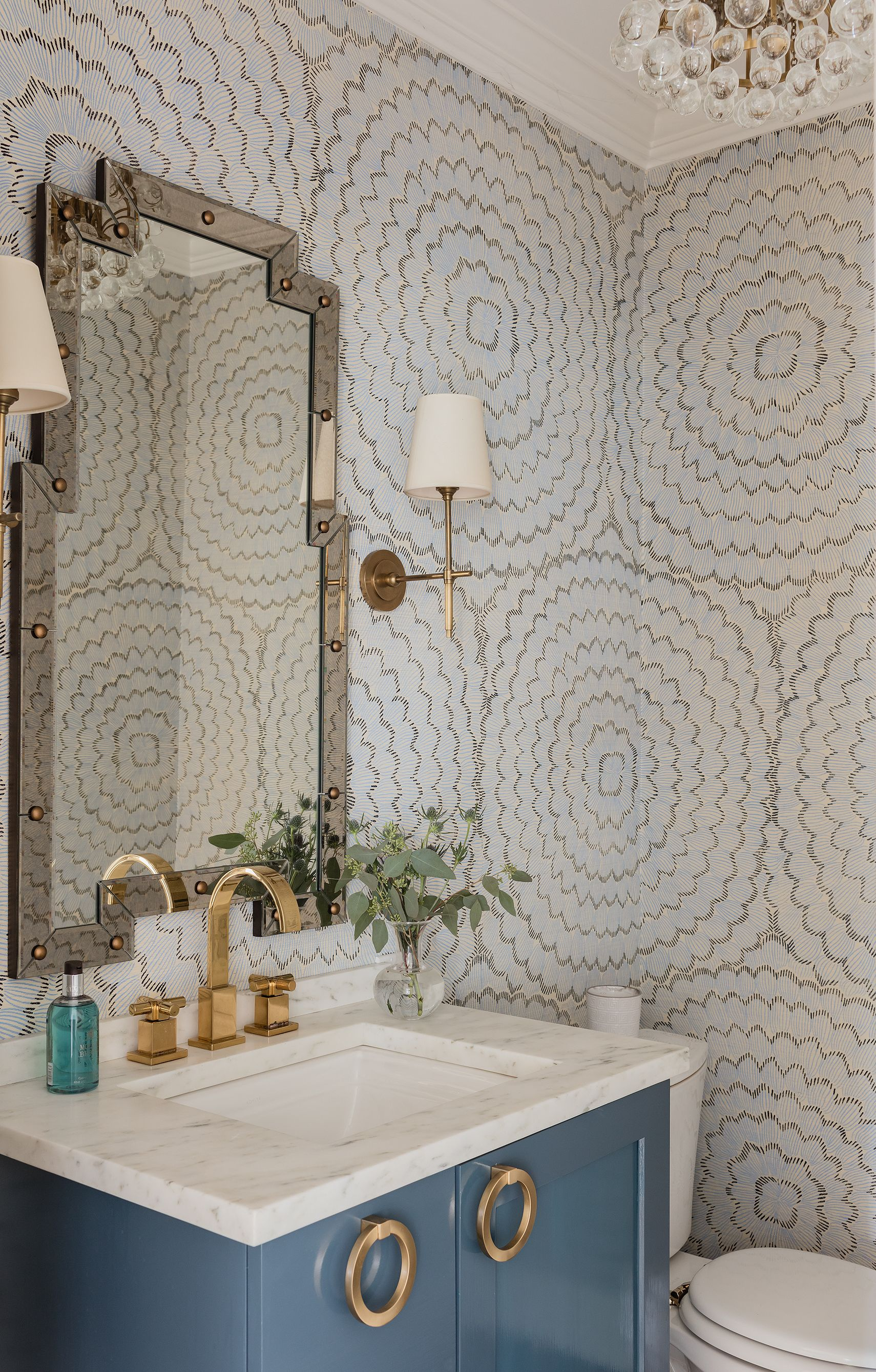 A High/ Low Powder Room Design — Elements of Style Blog