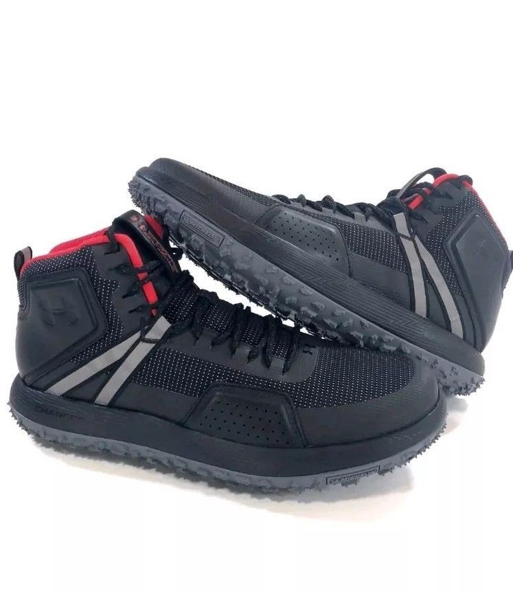 the best attitude a9a72 ce2f7 Under Armour Fat Tire Michelin Mens 9 Black Mid Top Hiking ...