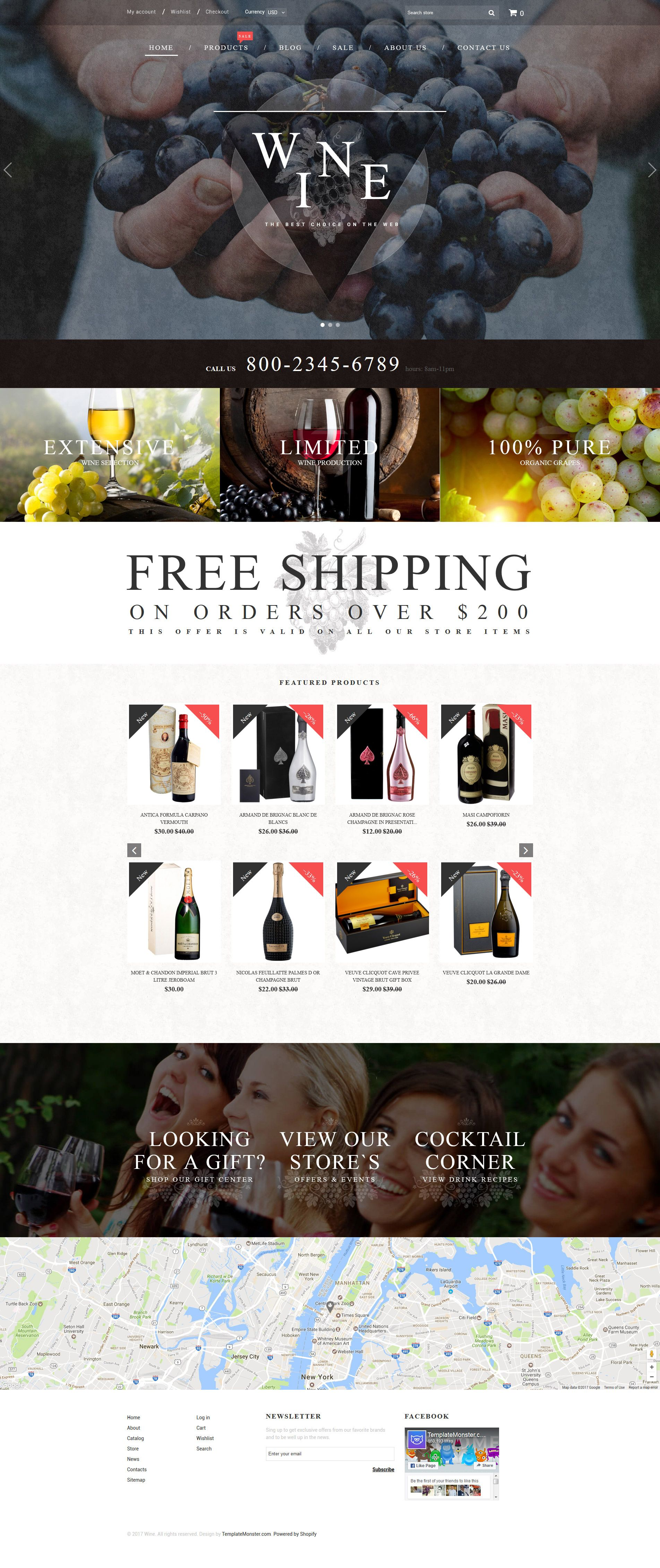 Wine wine shop responsive shopify theme website designs wine wine shop responsive shopify theme pronofoot35fo Image collections