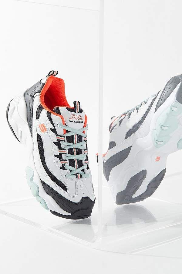 Skechers Sport D'LITES Sneaker low blackwhitesilver