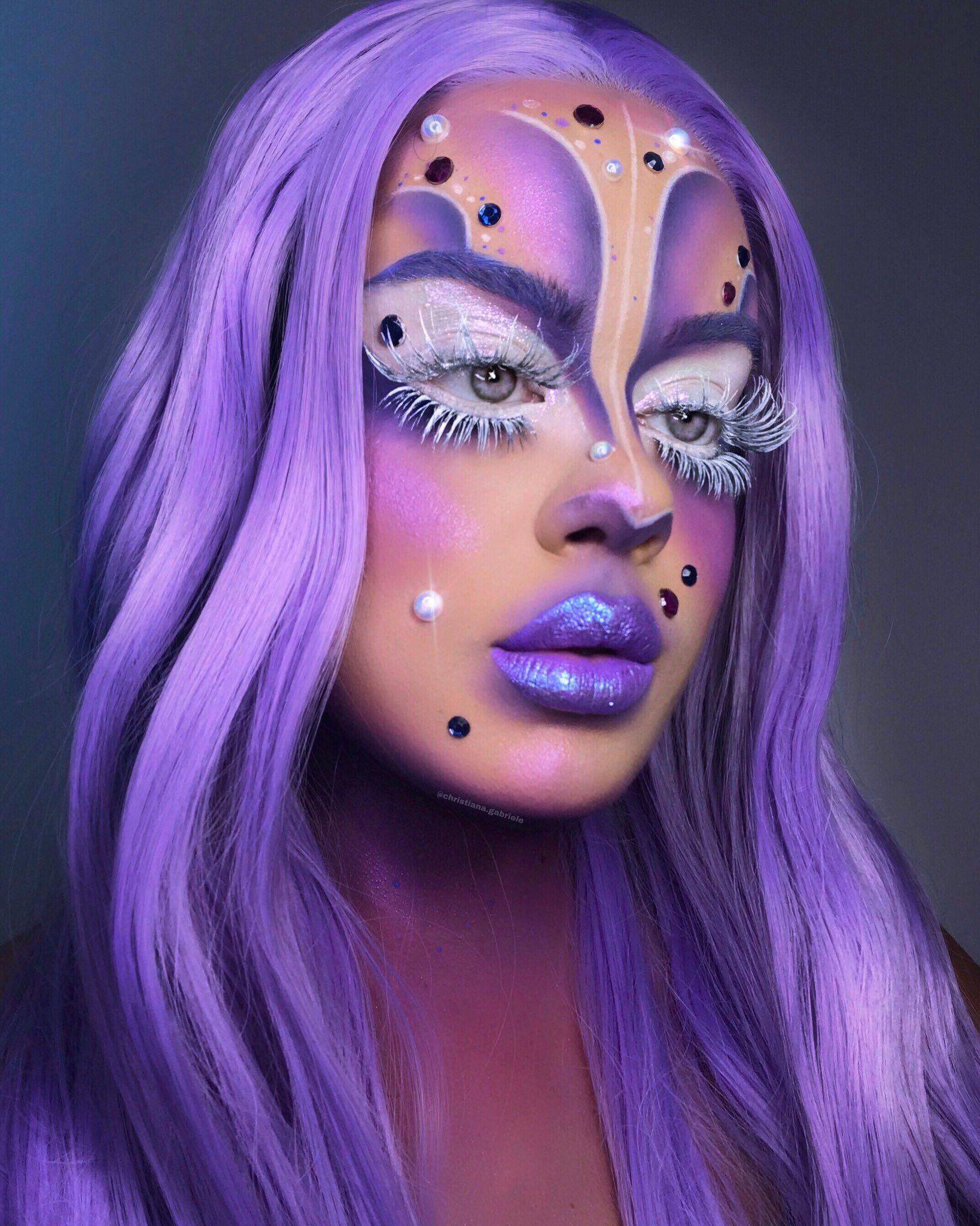 Pinterest spiciwasabi 🦋🦋🦋 Halloween Makeup Creative