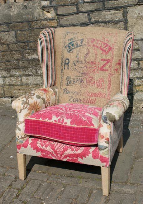 Sessel patchwork crazy quilts m bel sessel und st hle - Alte stuhle restaurieren ...