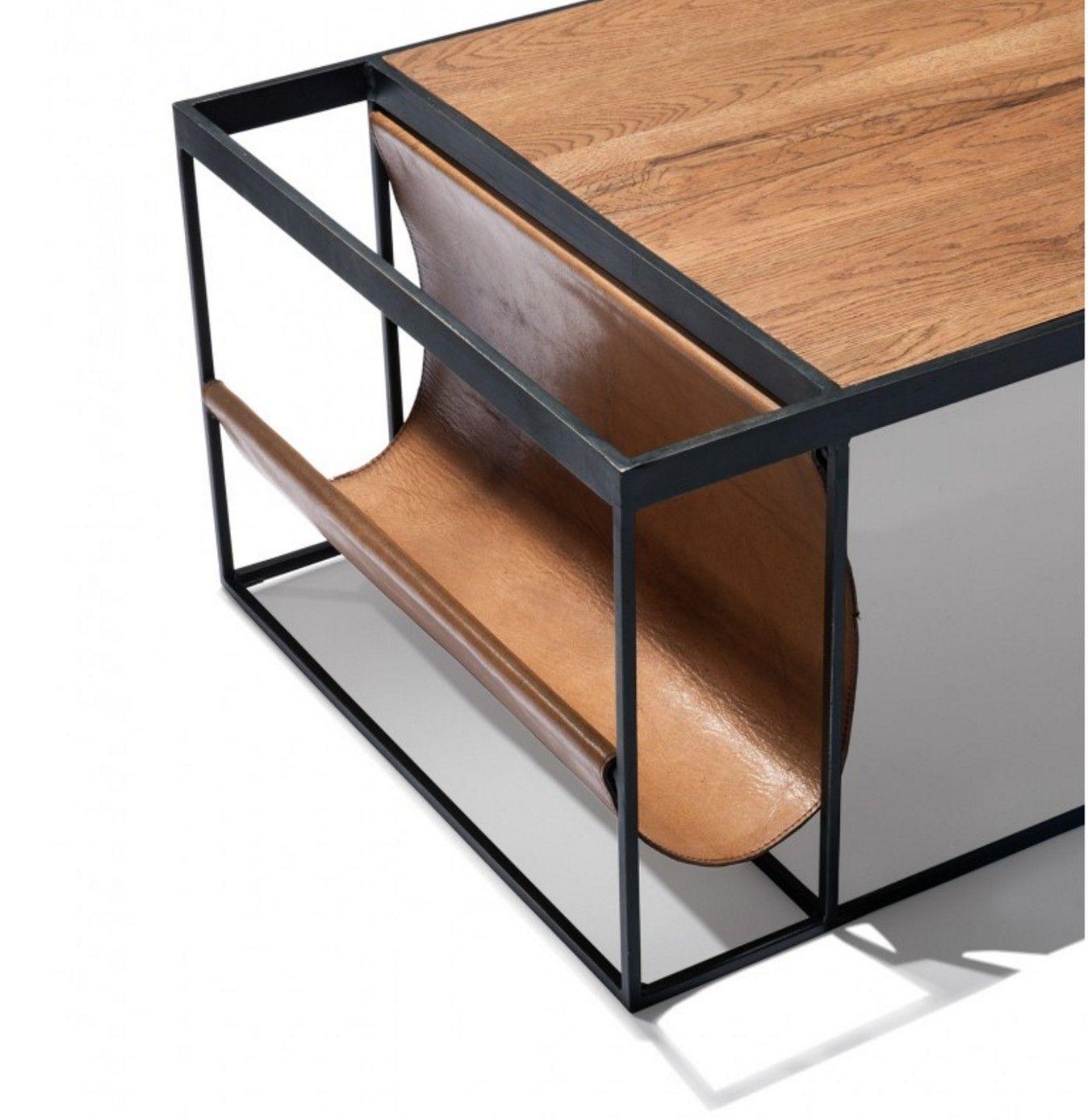 Voici Une Belle Table Basse Toute Simple Mais Finalement Parfaite Avec Sa  Structure En Métal Noir