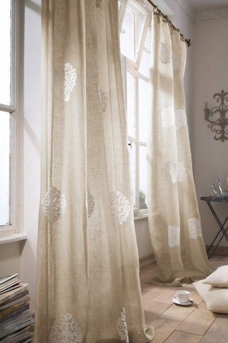curtains Curtains Pinterest Cortinas, Visillos y Arpillera - cortinas decoracion