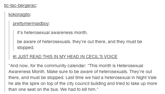 Hetersexual awareness month