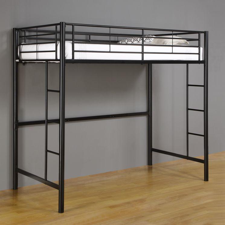 Twin Loft Bed with Built-In Ladder   Idees habitaciò Blau   Pinterest