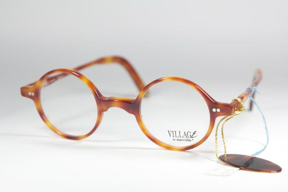 small round vintage eyeglasses frame Made in Italy by marcolin 80s nos