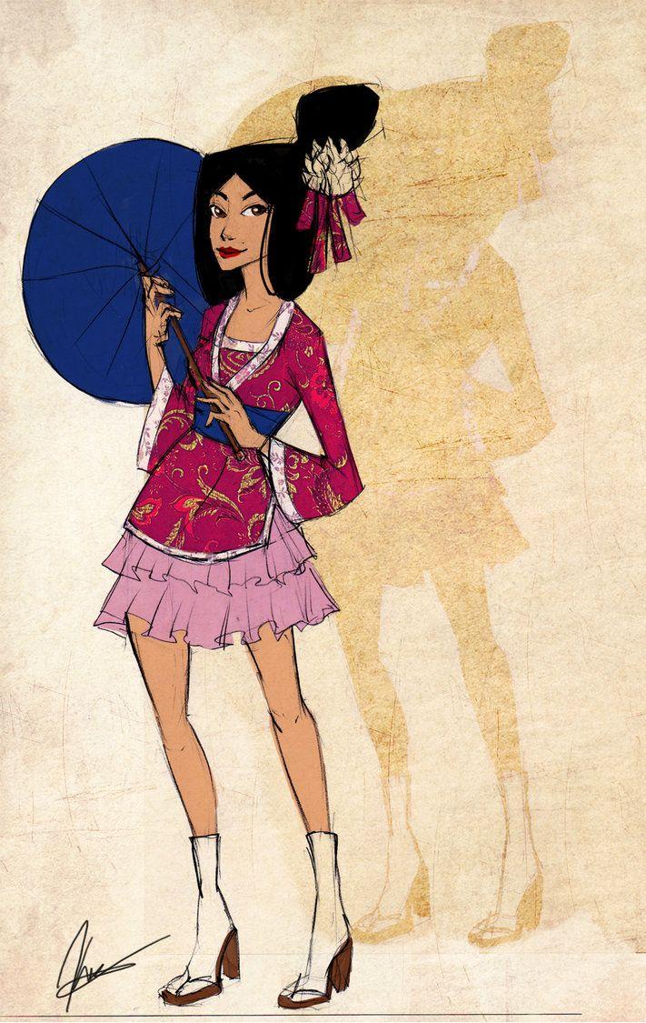 Disney Girls: Mulan by KimberBee.deviantart.com on @DeviantArt