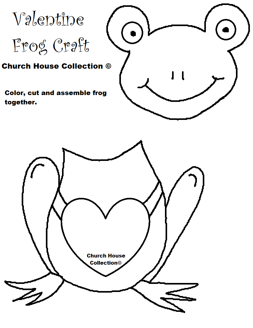 Frog Valentine Craft for kids Cutout Template no words.png (816 ...