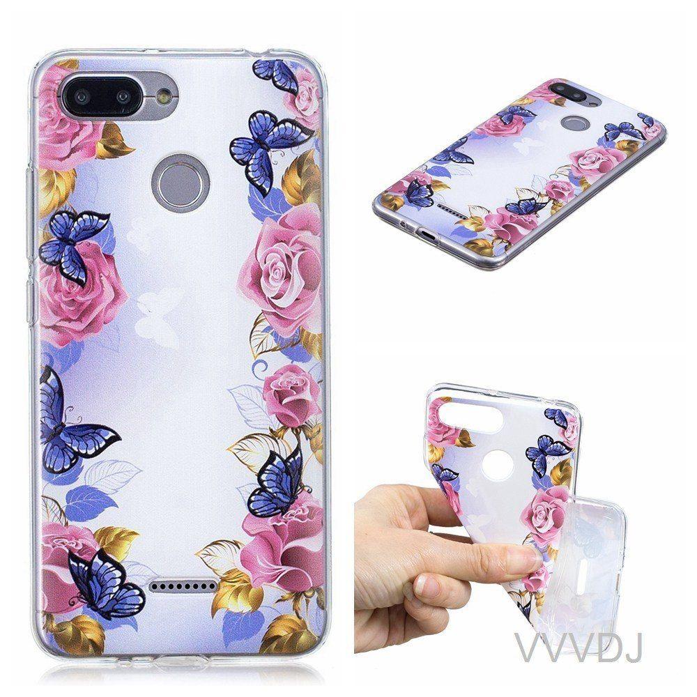 wholesale dealer 1d097 93552 For Xiaomi Redmi 6A red mi 6A back cover cute fashion cartoon phone ...