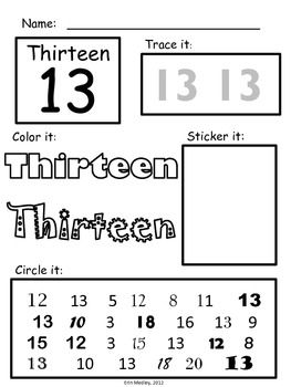 Super Simple Math: Number Worksheets, Numerals 0-20