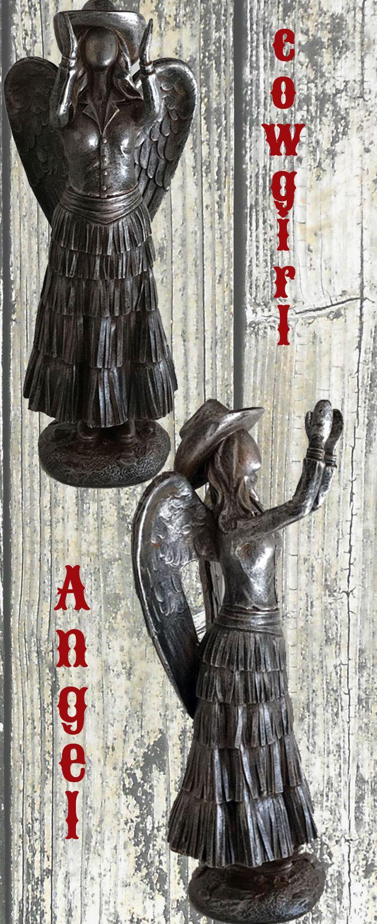 Cowgirl Christmas Decor - Praying Cowgirl Angel Wearing Dress ...