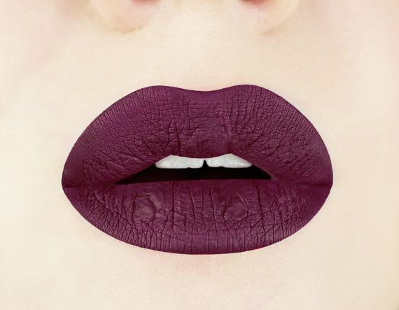 Top Black Cherry Liquid Lipstick. Plum. Dark. Maroon. Glossy to Matte  CA71