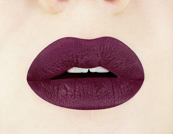 Black Cherry Liquid Lipstick Plum Dark Maroon Glossy
