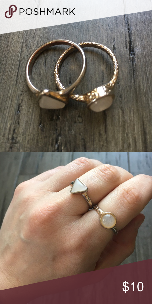 Express Stacking Rings in GoldRose Gold Pretty lights Pink stone