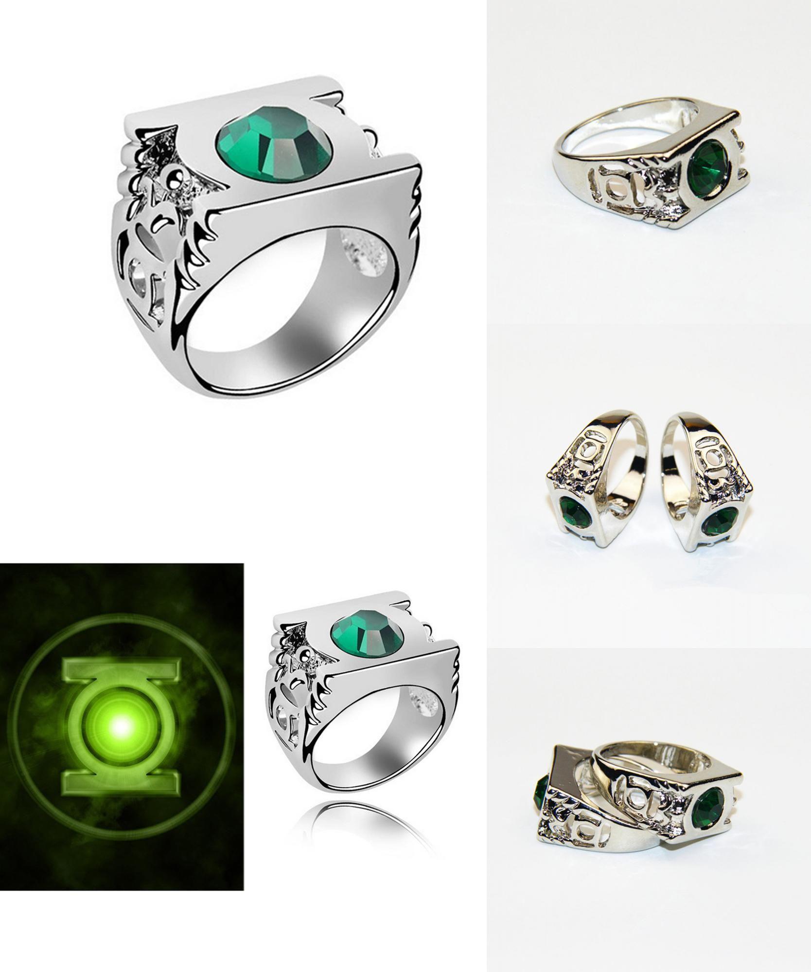 Visit To Buy New Design Style Marvel Green Lantern Ring The Crystal: Green Lantern Emerald Wedding Band Set At Websimilar.org
