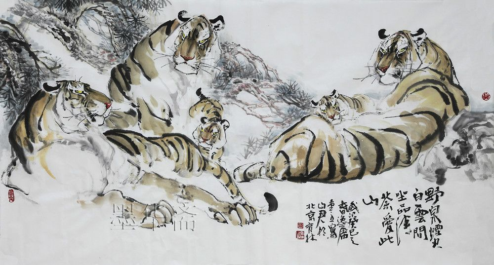 Chinese Tiger Paintings Artists Chinese Painting