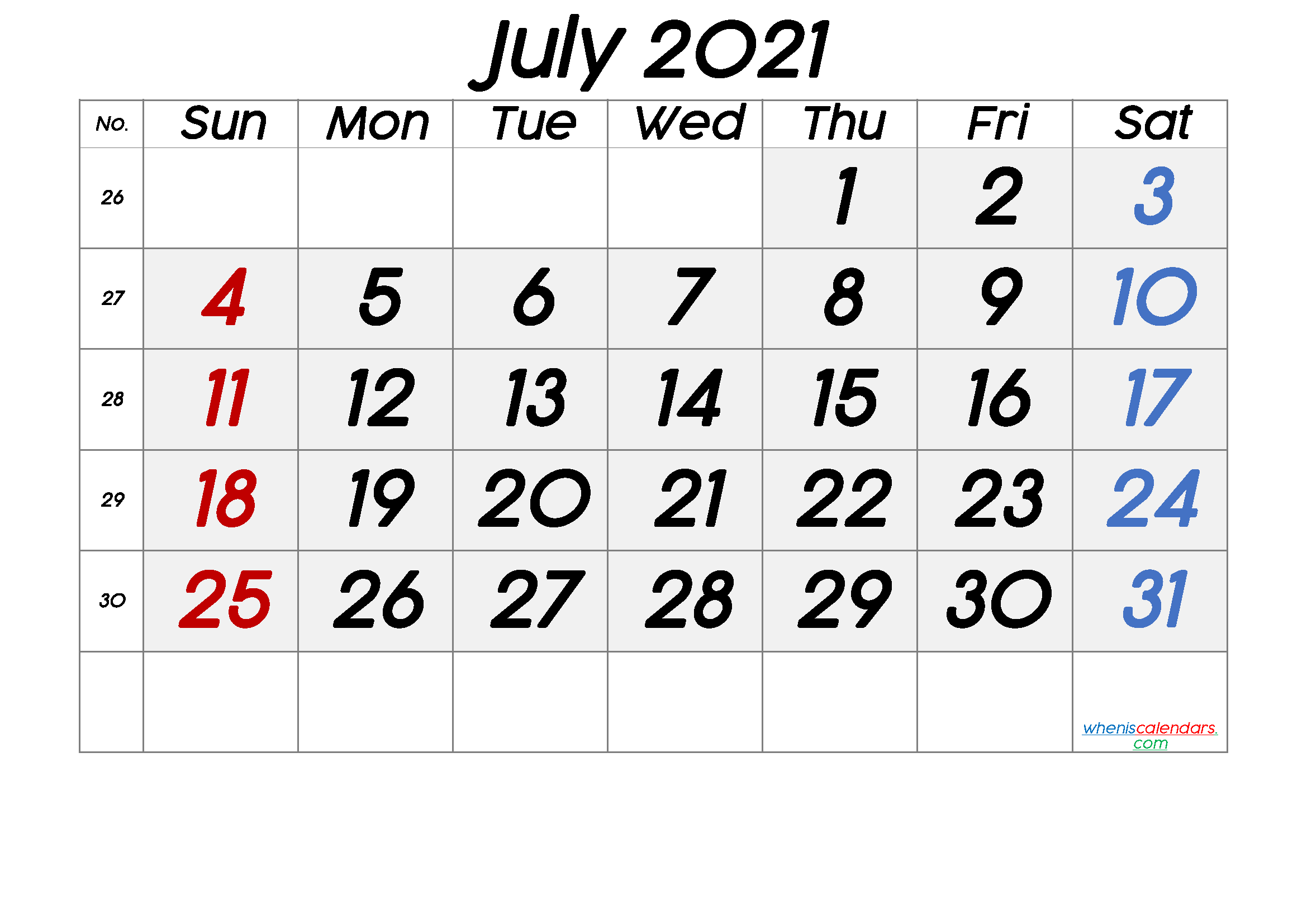 July 2021 Printable Calendar Free Premium in 2020 ...