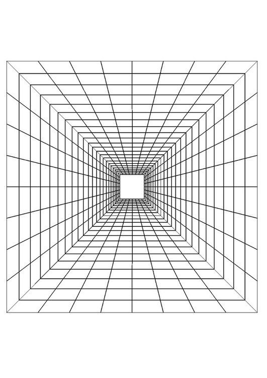 Dibujo Para Colorear Profundidad Img 29420 Ilusion Optica Dibujo Periodo Geométrico Arte En Perspectiva